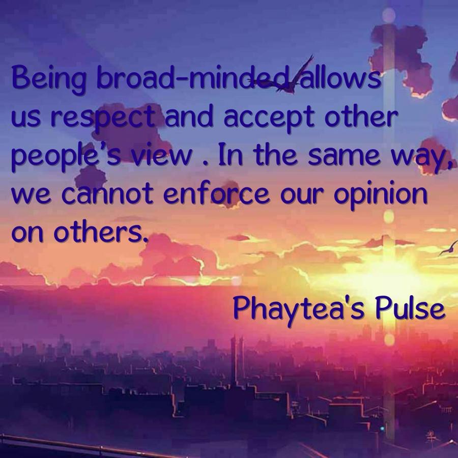 Broad-minded
